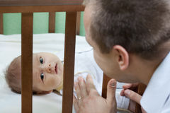 Father and baby Stock Images