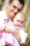Father with baby Stock Image
