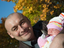 Father with baby Stock Photos