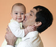 Father and baby Royalty Free Stock Photography