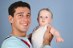 Father with baby 3. Smile father with baby 3 Stock Image