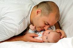 Father and baby Royalty Free Stock Photo