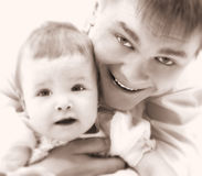 Father and baby Stock Photos