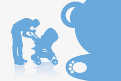 Father and baby background Stock Photo