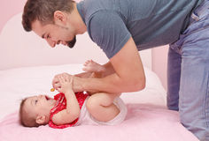 Father and baby Royalty Free Stock Images