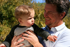 Father and Baby Boy Royalty Free Stock Photo