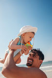 Father And Baby Boy At The Beach Royalty Free Stock Photos