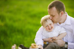 Father with baby boy Royalty Free Stock Images