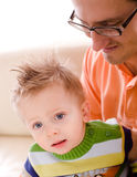 Father and baby boy together Royalty Free Stock Photo