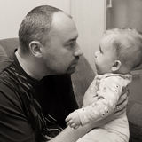 Father and baby daughter Royalty Free Stock Photography