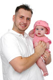 Father and baby daughter smiling Stock Photography
