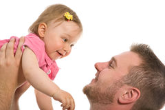 Father and baby girl Stock Image