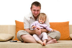 Father and baby girl Stock Images