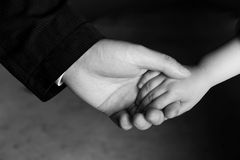 Father and baby hand Royalty Free Stock Photos