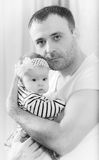 Father with the baby Royalty Free Stock Photography