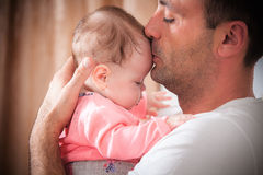 Father with the baby Stock Photography