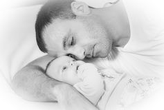 Father with the baby Royalty Free Stock Image