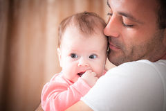 Father with the baby Royalty Free Stock Images