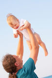 Father and baby having fun Stock Photos