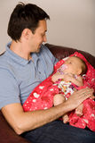 Father and baby at home Royalty Free Stock Photo