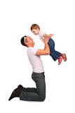 Father with baby playing Stock Photos