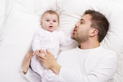 Father and baby Royalty Free Stock Photos