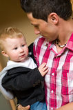Father with baby son Stock Images