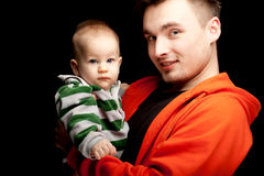 Father with baby son Royalty Free Stock Image