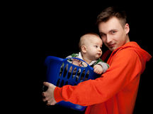 Father with baby son Royalty Free Stock Photo