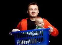 Father with baby son Stock Image