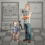 Father And Baby Son Stock Photography