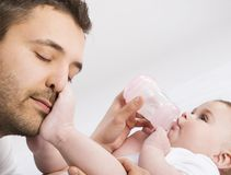 Father and baby Stock Photo
