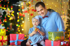 Father with the beloved little daughter stock photography