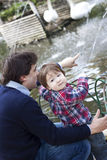 Father and boy royalty free stock photo