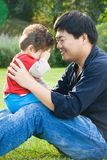 Father and boy Stock Image