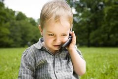 Father Calling Royalty Free Stock Image
