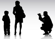 Father with camera Royalty Free Stock Photography