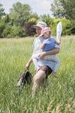 Father caring his daughter Stock Photos