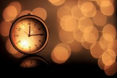 Time with bokeh royalty free stock image
