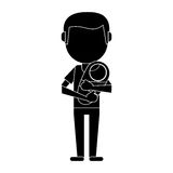 Father carrying baby newborn pictogram. Vector illustration eps 10 Stock Images