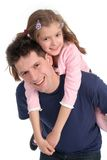 Father Carrying Daughter Royalty Free Stock Photo