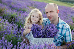 Father and a charming little daughter Royalty Free Stock Photography