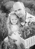 Father and a charming little daughter Stock Photos