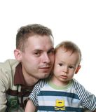 Father with child stock photo