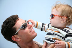 Father with the child Stock Photos