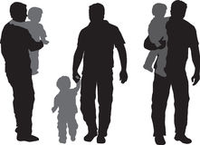 Father and child. Illustration of  a a father and his child Royalty Free Stock Photos