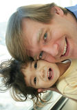 Father and child bonding Royalty Free Stock Photo