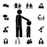 father-child communication icon. Detailed set of conversation icons. Premium graphic design. One of the collection icons for royalty free illustration