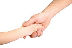 Father and child hands Stock Image