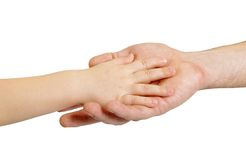 Father and child hands Royalty Free Stock Photography